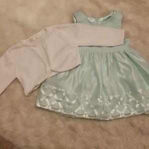 American Princess mint green girls dress